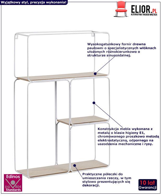 Loftowa półka Tippi - biała