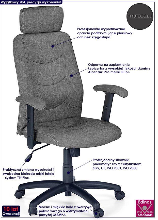 Biurowy fotel obrotowy szary Stellar 2X