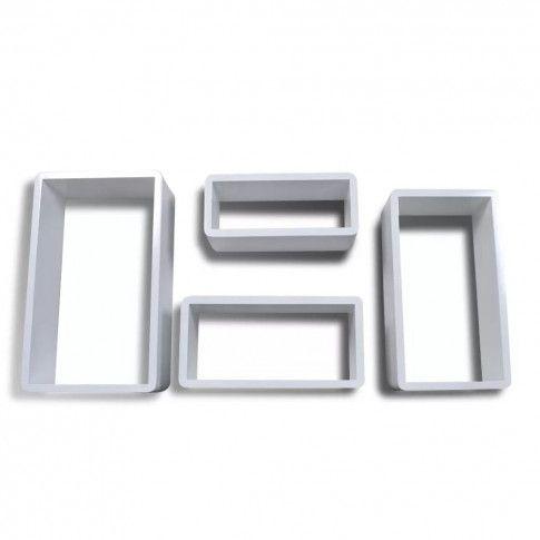 Zdjęcie produktu Zestaw półek ściennych Quant 2X - biały połysk.