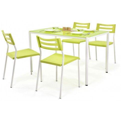 Zdjęcie produktu Stół z krzesłami Creola - limonkowy.