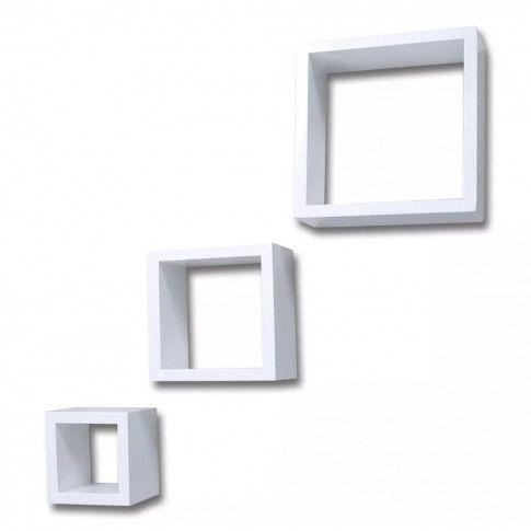 Zdjęcie produktu Zestaw modułowych półek ściennych Cest - biały.