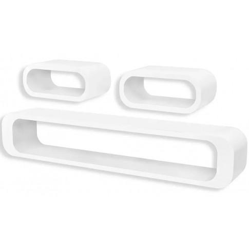 Zestaw białych półek ściennych Mins 2X