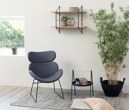 Designerska półka Milier - naturalna