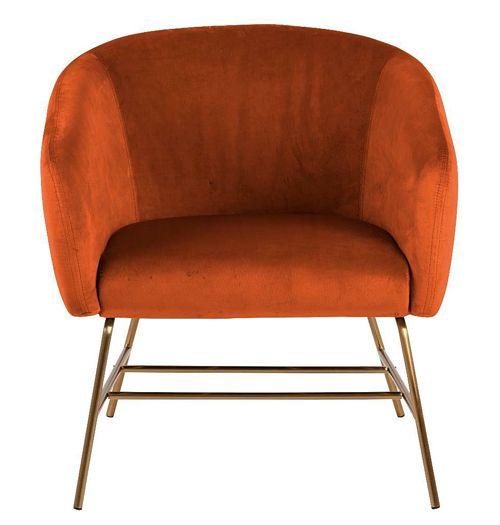 Designerski fotel Pablos 2X - pomarańczowy