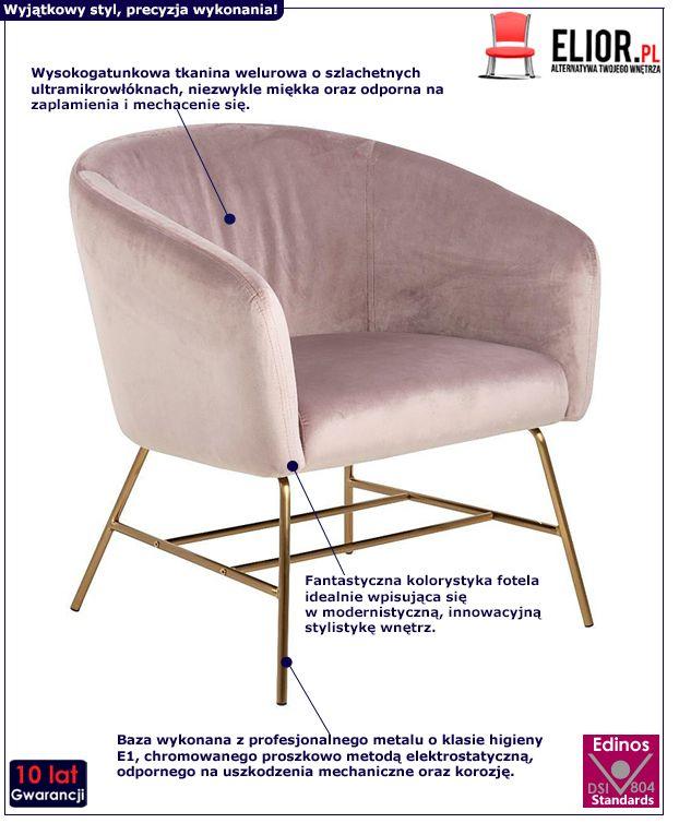 Fotel wypoczynkowy Pablos 2X - różowy