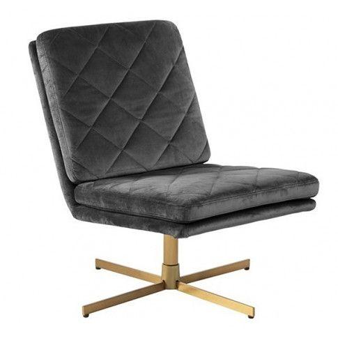 Zdjęcie produktu Obrotowy fotel wypoczynkowy Ricco - ciemnoszary.