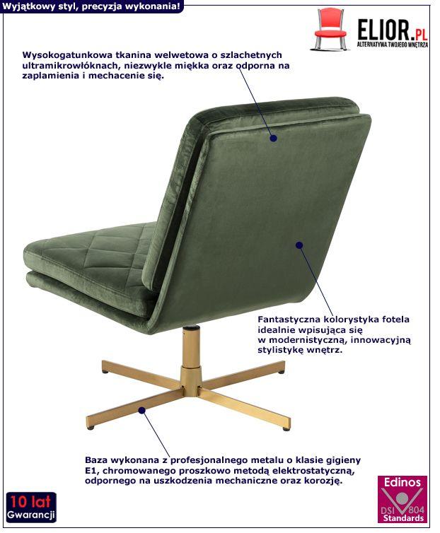 Ciemnozielony fotel Ricco - miękki