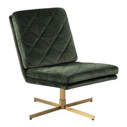 Zdjęcie produktu Obrotowy fotel wypoczynkowy Ricco - ciemnozielony.