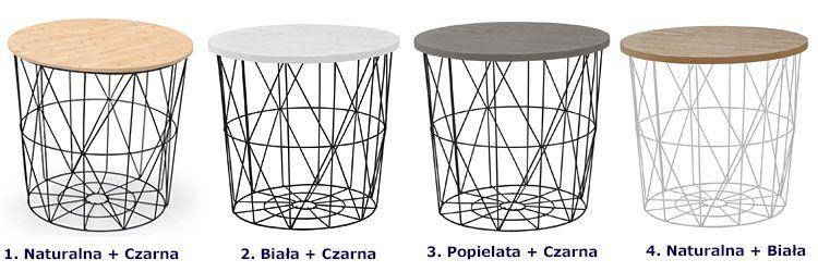 Okrągły druciany stolik kawowy do salonu, loftu Rista