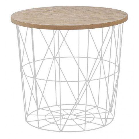 Zdjęcie produktu Okrągły stolik kawowy Rista - naturalny + biały.