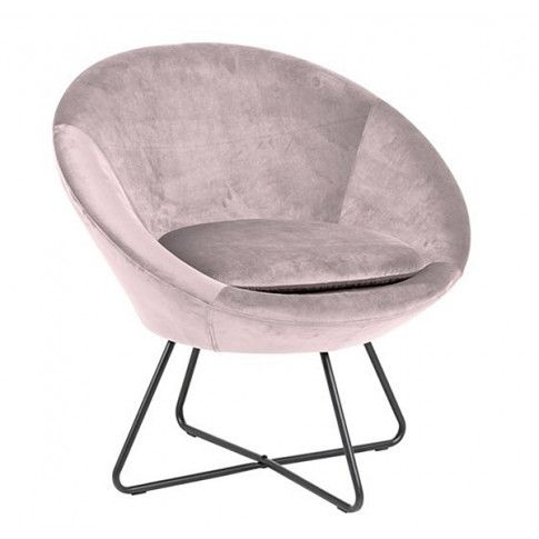 Zdjęcie produktu Fotel muszelka Lorum - różowy.