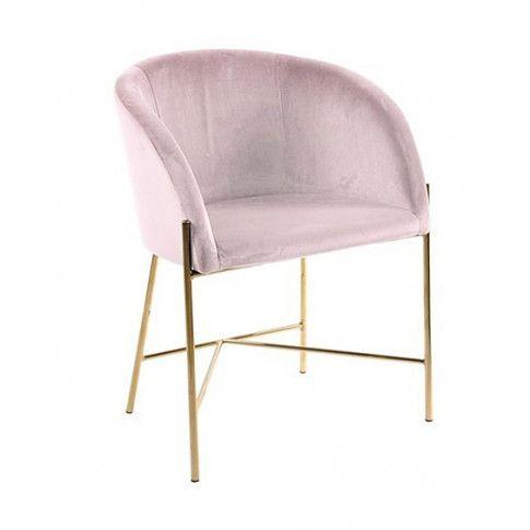 Zdjęcie produktu Welurowy fotel tapicerowany Ismen - różowy.