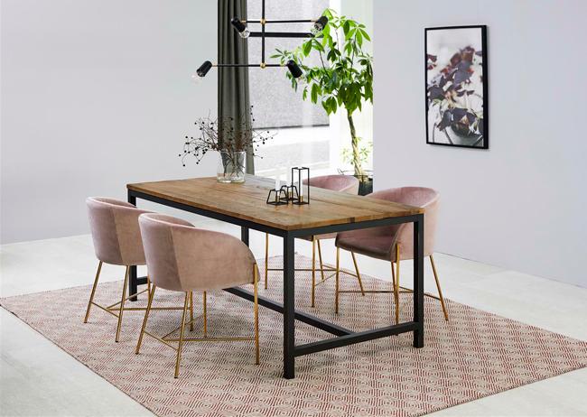 Glamour fotel Ismen - różowy