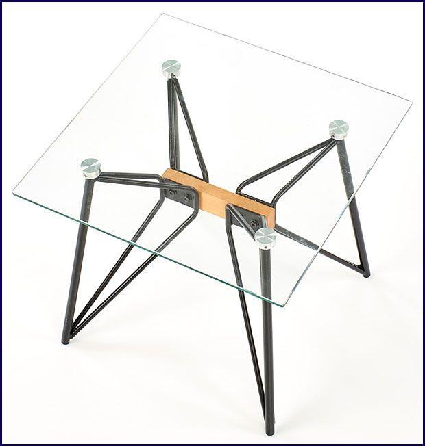 Kwadratowy loftowy stolik kawowy szklany Westa 3X
