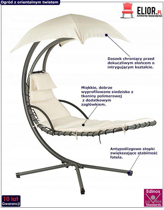 Fotel Confucio - beżowy