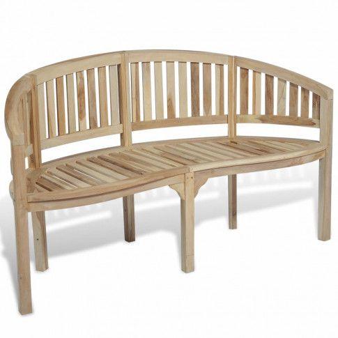 Zdjęcie produktu Drewniana ławka ogrodowa Bart - brązowa.