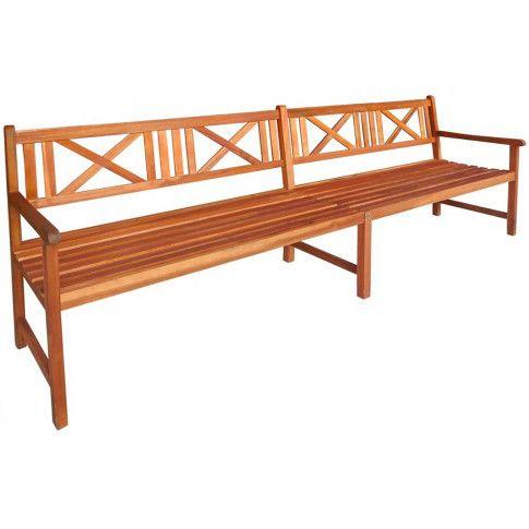 Zdjęcie produktu Drewniana ławka ogrodowa Fraset - brązowa.