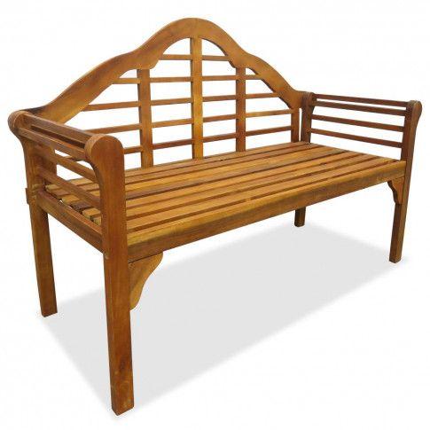 Zdjęcie produktu Drewniana ławka ogrodowa Royale - brązowa.