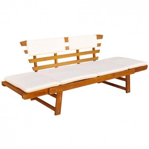Zdjęcie produktu Drewniana ławka ogrodowa Issen - brązowa.