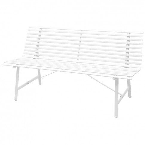 Zdjęcie produktu Ławka ogrodowa Fint - biała.