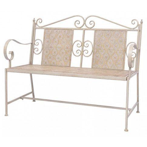 Zdjęcie produktu Metalowa ławka ogrodowa Baldar - biała.
