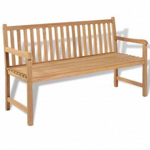 Zdjęcie produktu Drewniana ławka ogrodowa Tanas 2X - brązowa.