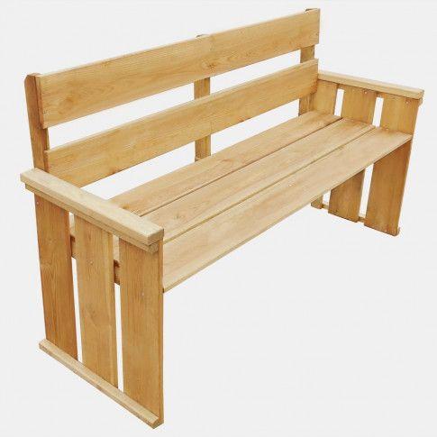 Zdjęcie produktu Drewniana ławka ogrodowa Uter - brązowa.
