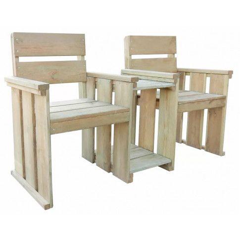 Zdjęcie produktu Drewniana ławka ogrodowa Larius - zielona.