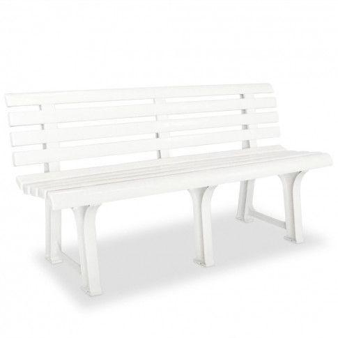 Zdjęcie produktu Ławka ogrodowa Alvine - biała.