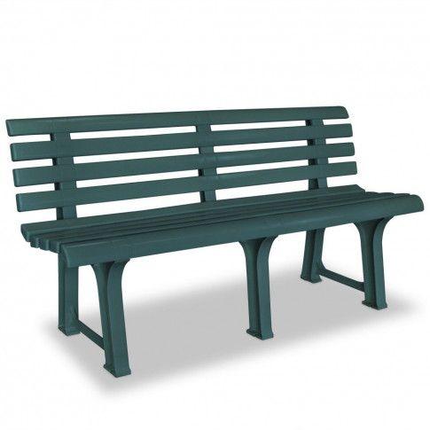 Zdjęcie produktu Ławka ogrodowa Alvine - zielona.
