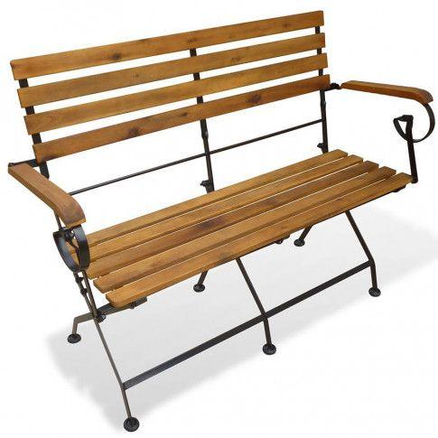 Zdjęcie produktu Drewniana ławka ogrodowa Nomas - brązowa.