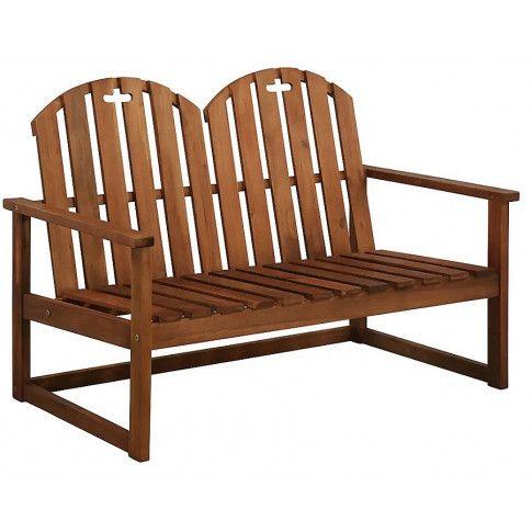 Zdjęcie produktu Drewniana ławka ogrodowa Manus - brązowa.