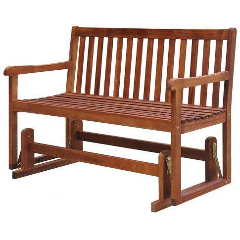 Zdjęcie produktu Drewniana ławka ogrodowa z huśtawką Leos - brązowa.