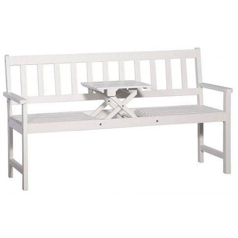 Zdjęcie produktu Drewniana ławka ogrodowa Gant - biała.