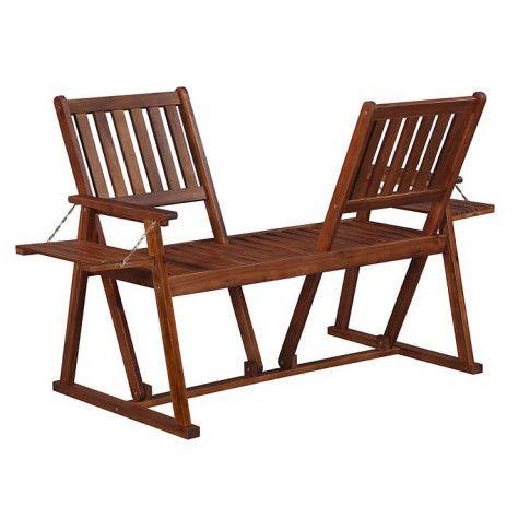 Zdjęcie produktu Drewniana ławka ogrodowa Lucas - brązowa.