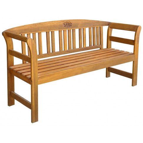 Zdjęcie produktu Drewniana ławka ogrodowa Nuln - brązowa.