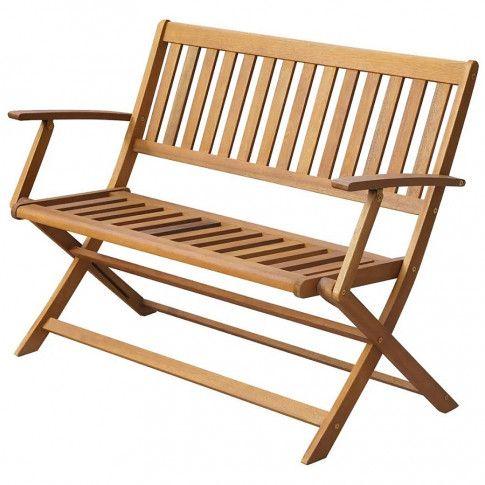 Zdjęcie produktu Drewniana ławka ogrodowa Rast - brązowa.