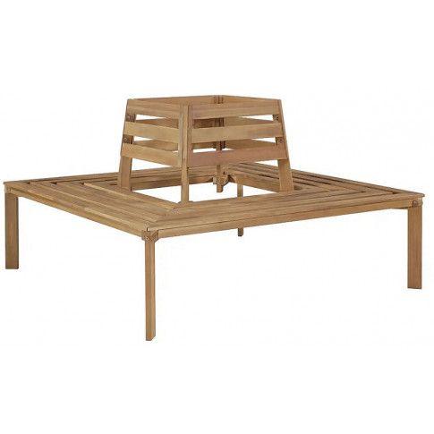 Zdjęcie produktu Drewniana ławka pod pień drzewa Stilm - brązowa.