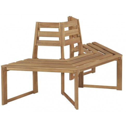 Zdjęcie produktu Drewniana ławka pod pień drzewa Lumac - brązowa.