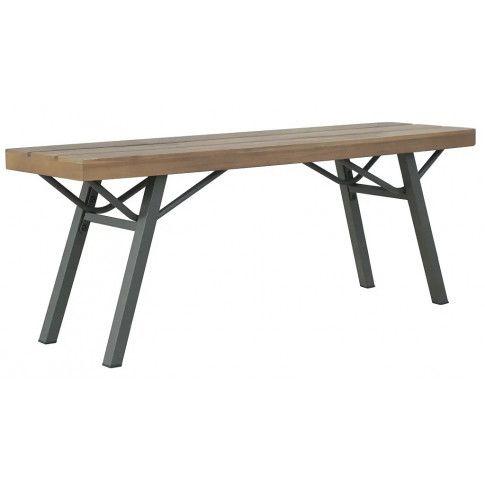 Zdjęcie produktu Drewniana ławka ogrodowa Ethan - brązowa.