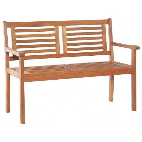 Zdjęcie produktu Drewniana ławka ogrodowa Infis - brązowa.