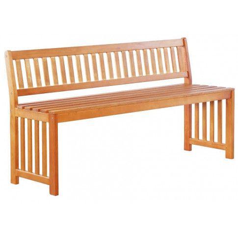 Zdjęcie produktu Drewniana ławka ogrodowa Jotun - brązowa.