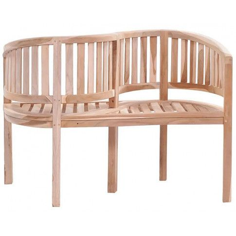 Zdjęcie produktu Drewniana ławka ogrodowa Serpent - brązowa.