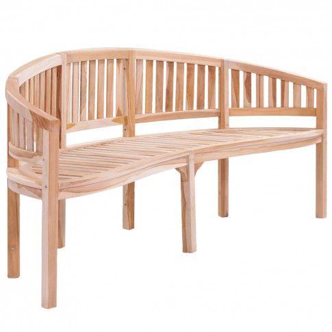 Zdjęcie produktu Drewniana ławka ogrodowa Ollen - brązowa.
