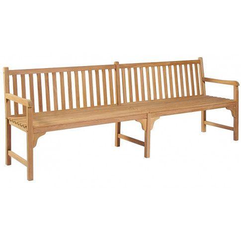 Zdjęcie produktu Drewniana ławka do ogrodu Lexter 2X - brązowa.