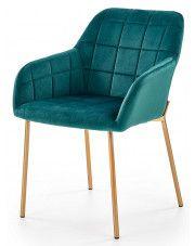Krzesło pikowane Ansel - zielone