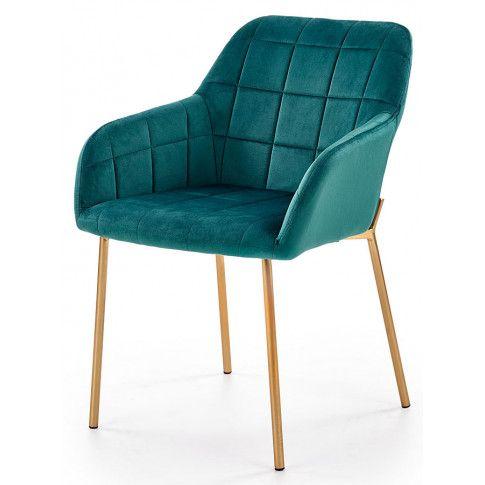 Zdjęcie produktu Krzesło pikowane Ansel - zielone.