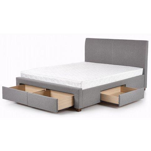 Zdjęcie produktu Tapicerowane łóżko Moris 2X 160x200 - popielate.