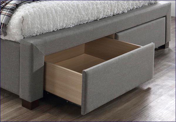 Szare łóżko Moris 2X 160x200