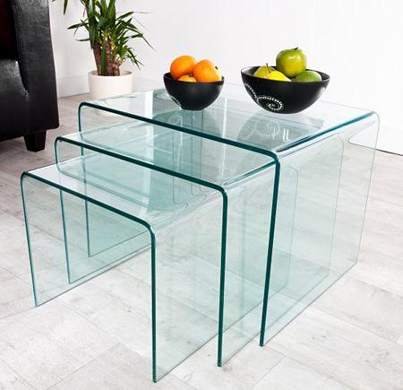 Designerskie stoliki Clemen - szklane